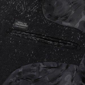 Image 4 - SIMWOOD di 2020 Inverno Nuovo Mix di Lana Giacche Uomini di Modo di Stampa Abiti Maschili Singolo Pulsante Giubbotti di Alta Qualità Cappotti Vestiti XZ6109