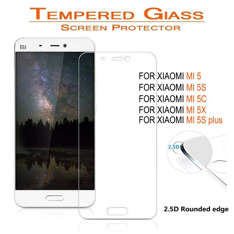 Screen-Protector Tempered-Glass Mi5c Xiaomi 5s Plus MI6 Mi5s 5X 9H For Mi4