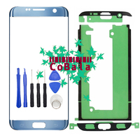 1Pcs Black Silver Gold Coral Blue For Samsung Galaxy S7 Edge G935 G935F Front Glass 5