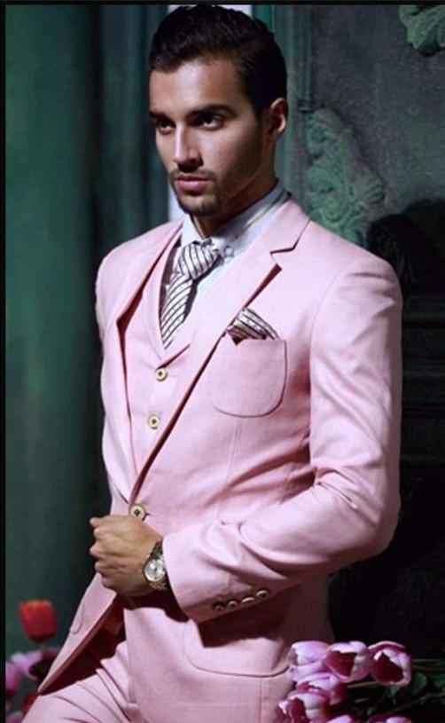 font b Custom b font font b Made b font Handsome Pink Groom Tuxedos 3
