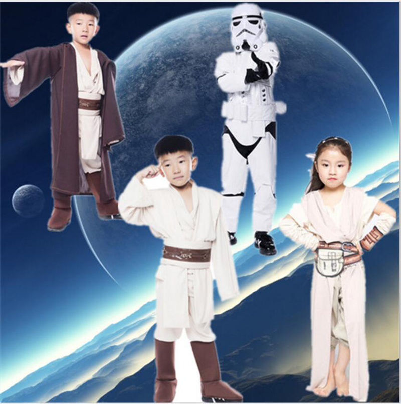 Free shipping Star Wars The Force Awakens children leather stormtroopers clothes Kylo Ren Ben Solo Anakin Skywalker Rey costume
