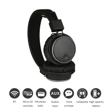 цена на Original Q8 Stereo Bluetooth Headphone Wireless Stereo Foldable Sport Headsets with Mic Support TF Card FM Radio