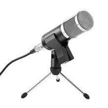 Microphone Round Head Handheld Condenser Microphone Computer Microphones Stand Tripod Wired 3.5mm Jack For Recording Studio dagee dg 001mic universal 3 5mm jack wired nylon housing microphone for pc black 200cm