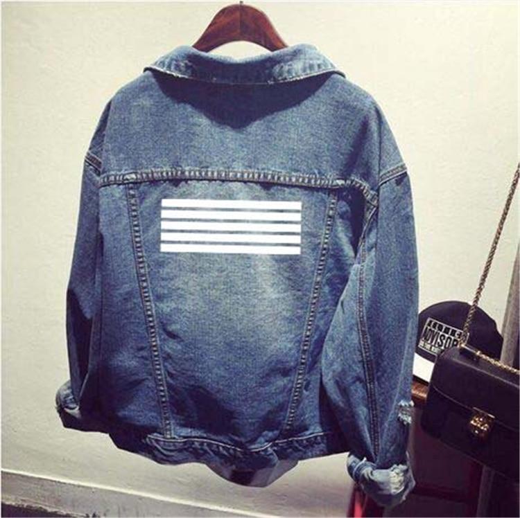 Bigbang kpop Tops Femmes Jeans veste courte 2016 automne kpop Vintage Denim Déchiré Manteau vêtements vestes pour femme