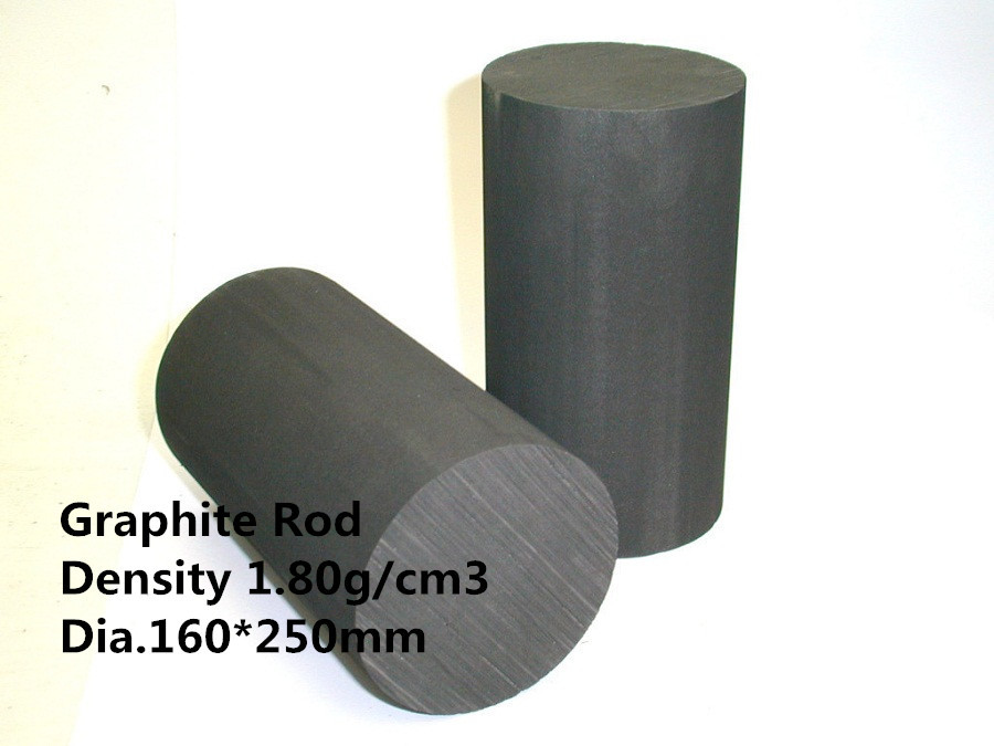 Dia.160*250mm graphite rod carbon cylinder      /graphite rod for stirring molten metals   /melting mixing silver купить