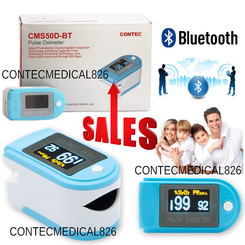 Contec CMS50D-BT OLED Finger Tip Pulse Oximeter Bluetooth APP Analysis SPO2 PR oxygen Monitor acurio as 301 finger pulse oximeter вращающийся oled экран