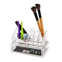 JZUG Acrylic Crystal Cosmetics Makeup Organizer Support Storage Case Box NEW