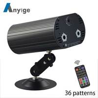 ANYIGE 36 Patterns DJ Laser stage light Full Color Projector 3W RGB LED Stage Effect Lighting for Disco light Xmas Party
