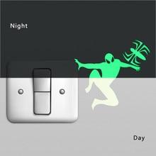 1PC New Luminous Cartoon DIY Switch Sticker Wall Sticker Decoration Fluorescent Living Room Children Room Home