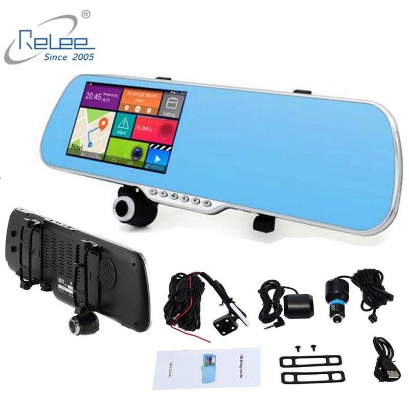 10 шт./лот, Бесплатная DHL, 5 дюймов, зеркало, видеорегистратор с сенсорным экраном, зеркало заднего вида, FHD 1080 P, автомобильная камера безопасно...