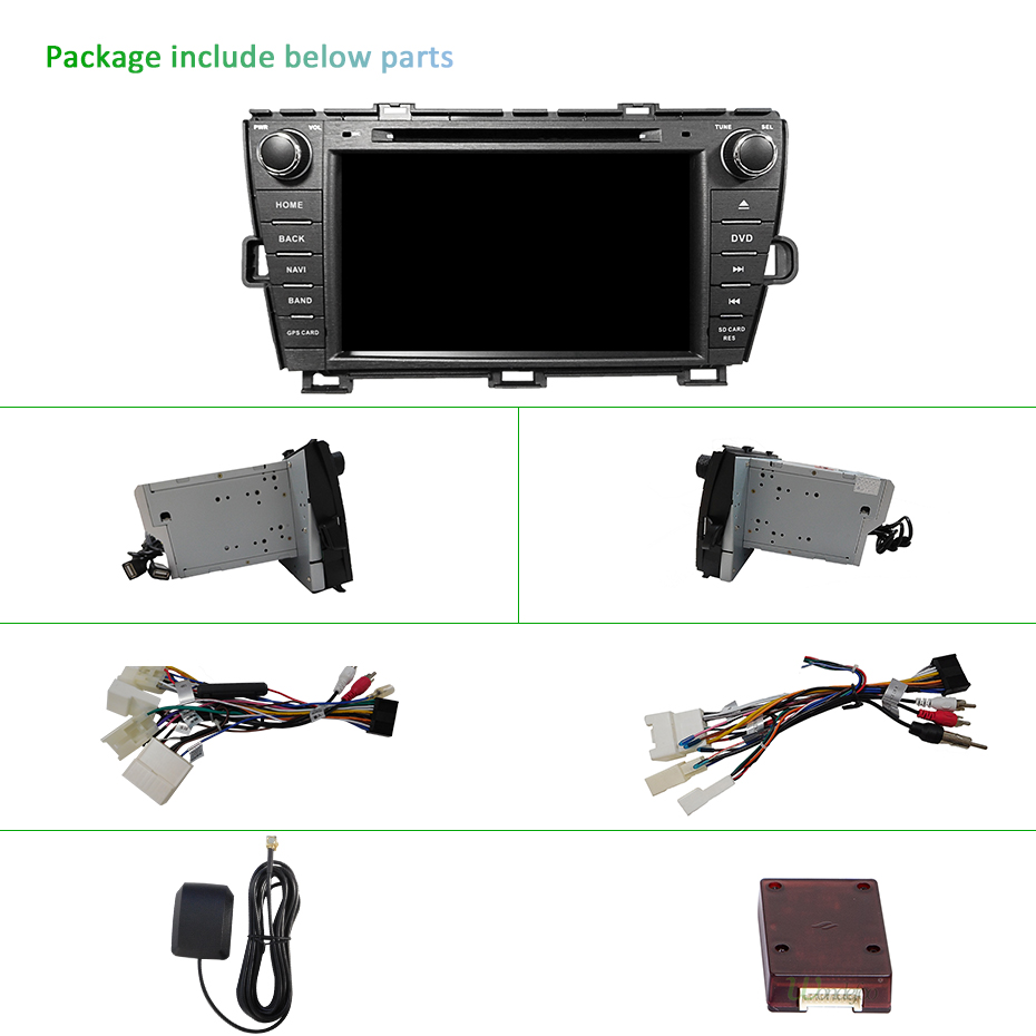 DSP 4G 64G Android 9.0 IPS screen CAR radio GPS For Toyota Prius 2009 2013 dvd player navigation stereo multimedia unit-in Car Multimedia Player from Automobiles & Motorcycles    3