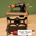 Modelos de Estilo Antiguo clásico Juguetes de Hojalata Metal de hierro para Los Niños/Adultos Decoración Del Hogar Artesanía MF413 sewing machine Colgante
