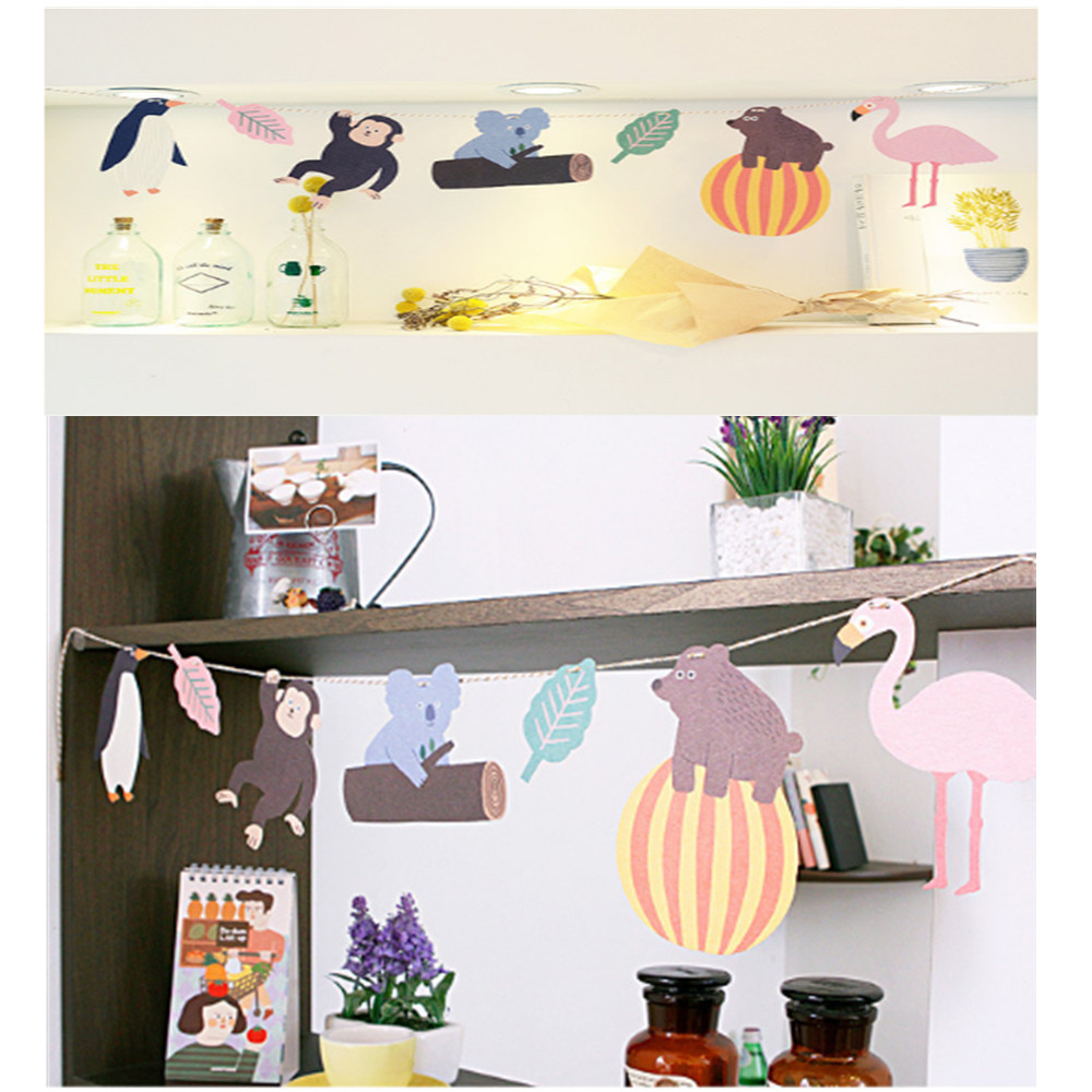 Animal Flamingo Monkey Banners Wedding Decoration Birthday Party Decorations Kids Flamingo Party Green Jungle Party Decorations.