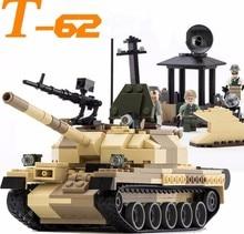 Gudi 372 Pz carri armati T-62 Sovietica Militare Building Block Set 3 figura Per Bambini Gioco di Guerra Toy Compatibile