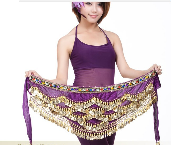 Egypts Nile Belly dance belly dance w/diamond waist belt 328 coins belly chain 1pcs/lot register mail free