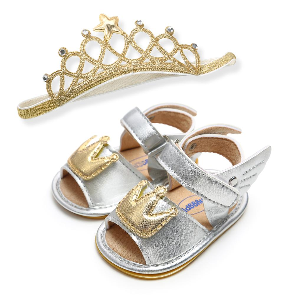 quot Crown quot Style Pu Baby Sandals New Design Shoes And Headband Sets in Sandals amp Clogs from Mother amp Kids