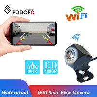 Podofo Waterproof HD 12V Rear View Safety Wifi Backup Camera with Night Vision View Camera on Mobile Device Rear View Camera