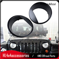 2Pcs Angry Bird Front Head Light Cover Kit For Jeep Wrangler 07 17 JK lamp cover for wrangler parts
