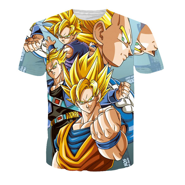 2016 New Design 3d Men's T Shirt Dragon Ball Naruto One Piece Anime T Shirt Women Fashion Clothing O-neck T Shirt Homme