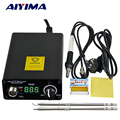 AIYIMA 110V 220V T12 Digital Soldering Iron Station Temperature Controller EU Plug+T12 Handle+T12-BCM2 and T12-K Tips