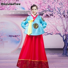 2019 Traditional Korean Hanbok Dress Female Folk Stage Dance Costume Korea Party