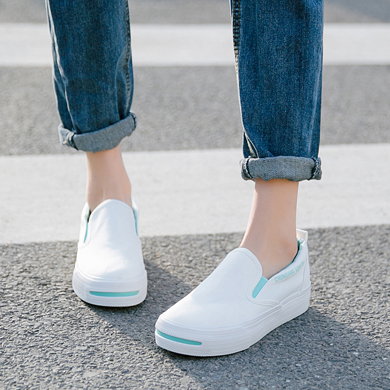 Women Loafers Soft Slip On Canvas Flats Shoes Woman Solid Casual Breathable Shoes For Girls Platform Classic Shoes arashi motorcycle parts radiator grille protective cover grill guard protector for 2003 2004 2005 2006 honda cbr600rr cbr 600 rr