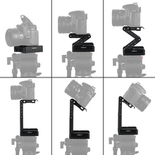 Andoer Z Shaped Flex Tilt Tripod Head 360 Degree Quick Release Plate Stand Mount Level for Canon Nikon Sony Pentax DSLR Camera
