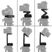 Andoer a Forma di Z Flex Tilt Testa Treppiedi 360 Gradi Piastra a Sgancio Rapido Del Basamento Del Supporto Del Livello per Canon Nikon Sony pentax Fotocamera Dslr