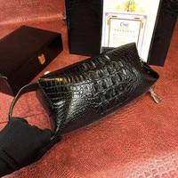 Fashion Designer Genuine Crocodile Leather Zipper Closure Men's Phone Case Alligator Skin Male Small Hand Bag Man Clutch Purse