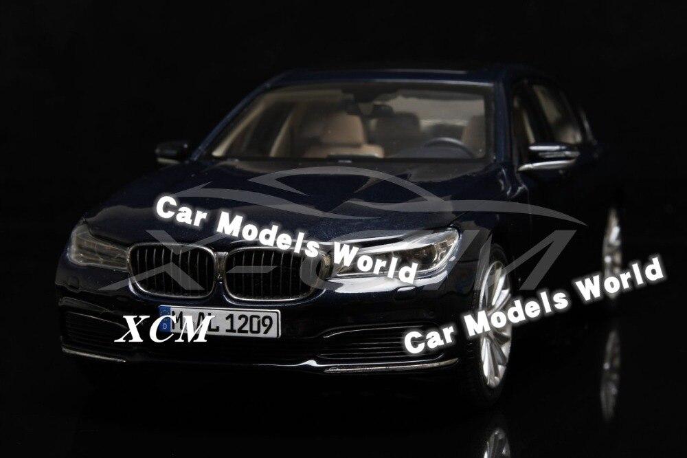 Diecast Car Model for All New 7 Series 750 Li 2017 1 18 Dark Blue SMALL