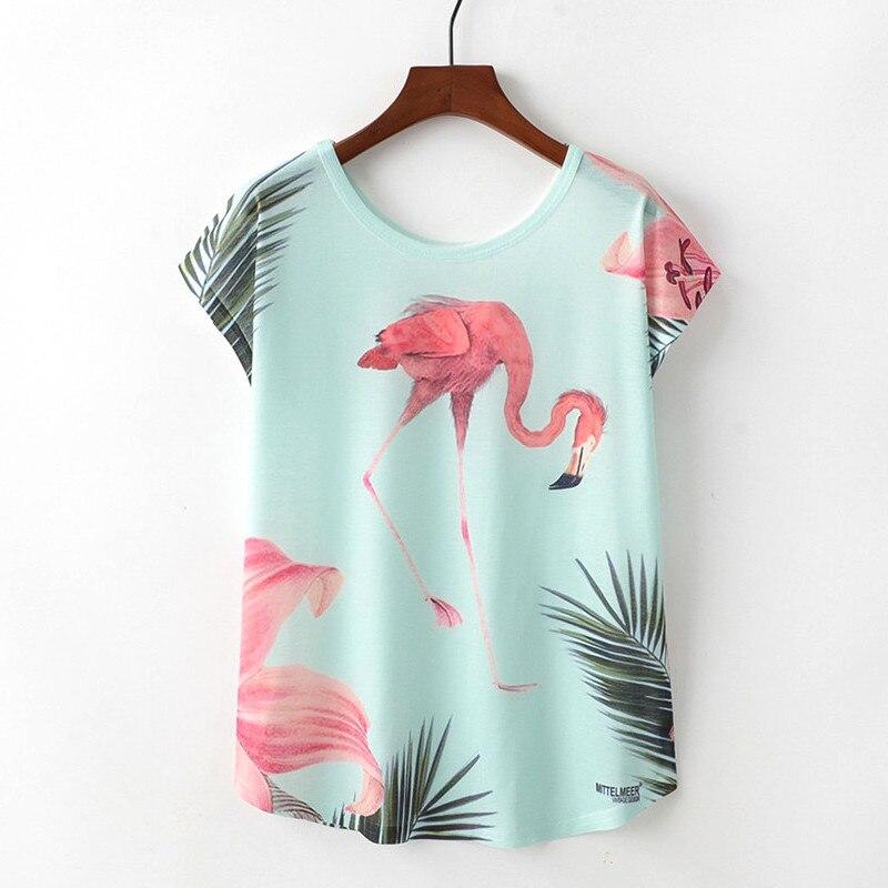 Flamingo T-shirt Frauen Tops 2018 Sommer Camisetas Mujer Katze Tier Niedlich T-shirt Femme Plus Größe Beiläufige T-stücke Shirts Harajuku
