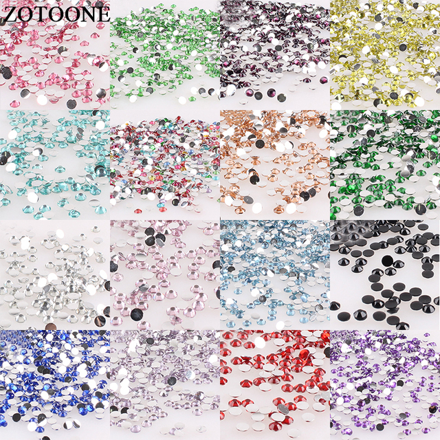 ZOTOONE 2 6mm 1000Pcs Resin Flat Back Colorful Sew On Rhinestone Nail Art  Decor Trim Stickers Accessories Applique Rhinestone C-in Rhinestones from  Home ... 1e74d08e1fcd