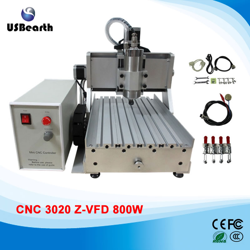CNC machine 3020Z cnc milling machine 800w water cooled spindle for metal wood cnc router wood milling machine cnc 3040z vfd800w 3axis usb for wood working with ball screw