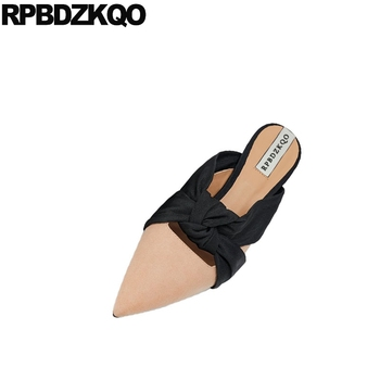 slippers big size large pointed toe 41 suede china designer shoes women luxury 2018 ladies slip on flats korean chinese mules