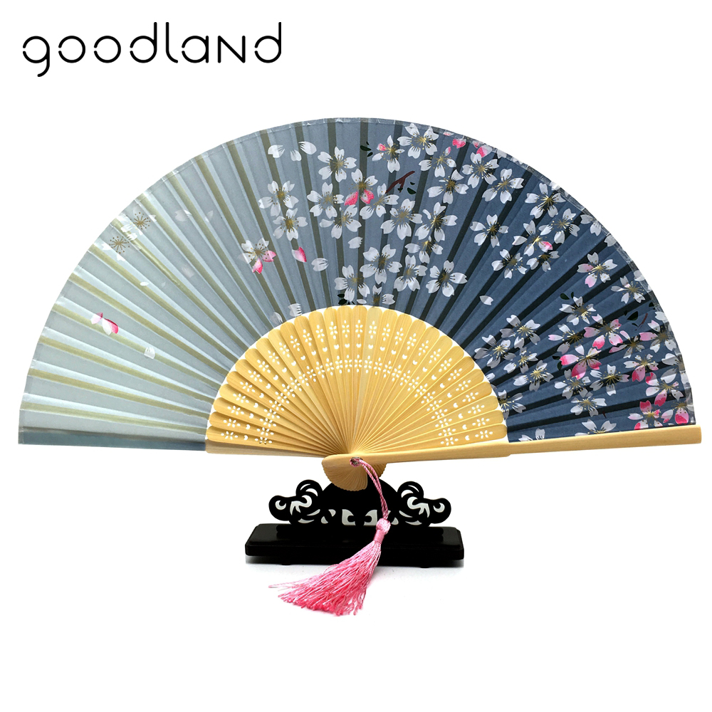 Free Shipping Wholesale 50pcs lot 2017 New Chinese Silk Bamboo Carved Folding Hand Fan Wedding Party