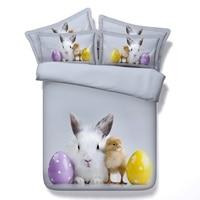 3D Rabbit chick egg bedding set duvet cover bed sheet bedspread sets linen quilt bedsheet Cal king queen size twin single 4pcs