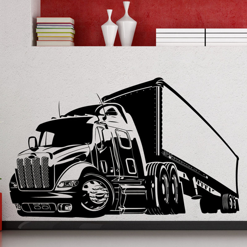 Home Decor Back To Search Resultshome & Garden Hearty Zooyoo Big Truck Wall Sticker Long Vehicle Car Automobile Vinyl Decal Home Boy Room Interior Art Decoration To Be Highly Praised And Appreciated By The Consuming Public