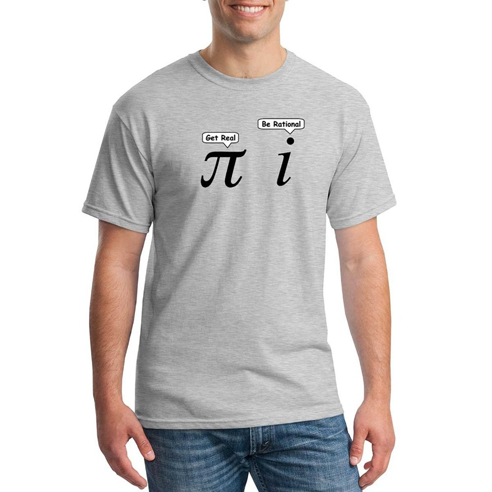 2017 Hot Sale Fashion Funny Pi Shirt T Shirt Math Geek Nerd Graphic Adult Get Real Rational