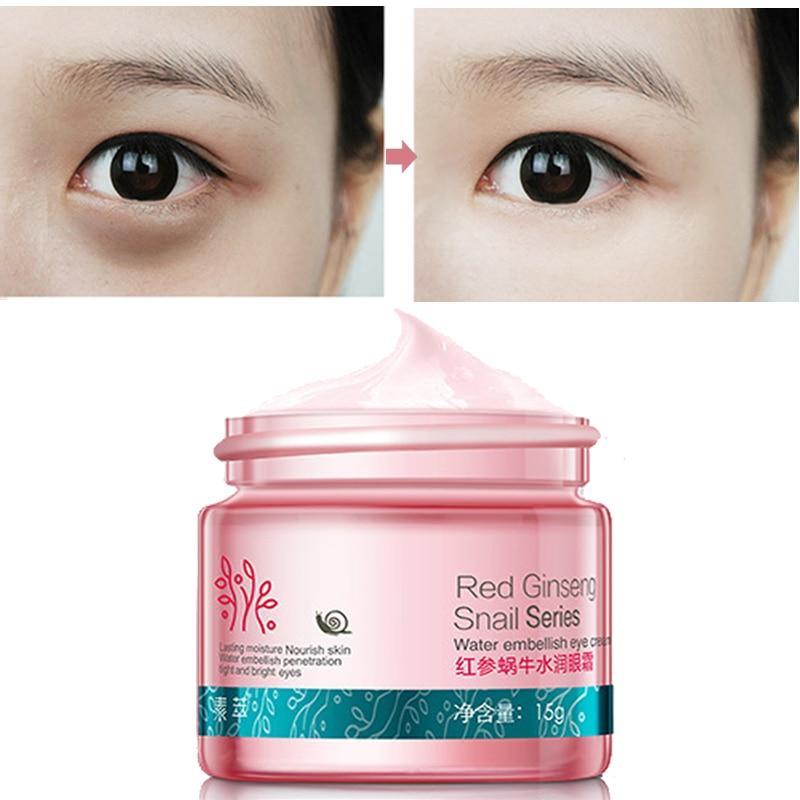 Κόκκινο Ginseng Κρέμα Ματιών Σαλιγκάρι Περιποίηση Προσώπου Περιποίηση Δέρματος Αντι-πρηξίματος Πρόσωπο Περιποίηση Ματιών Σκούρο Κύκλος Αντιρυτιδική Λευκαντική Ενυδατική