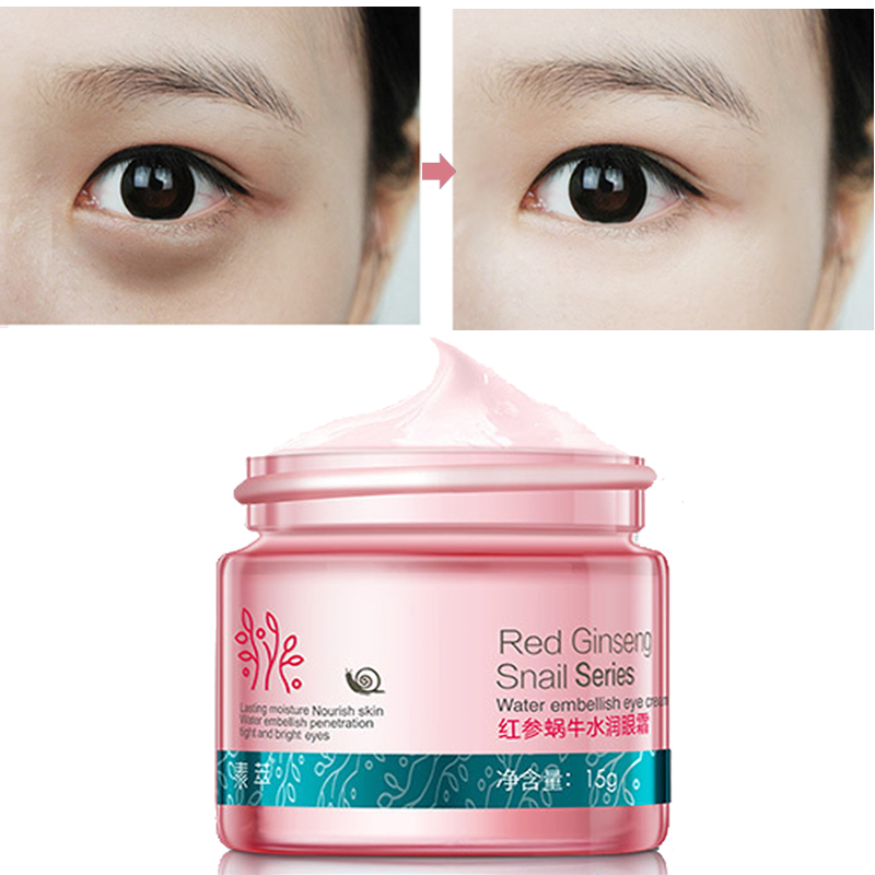 Red Ginseng Snail Eye Cream kasvohoito Ihonhoito Anti-turvotusta Face Eye Care Dark Circle Anti Wrinkle Whitening kosteuttava