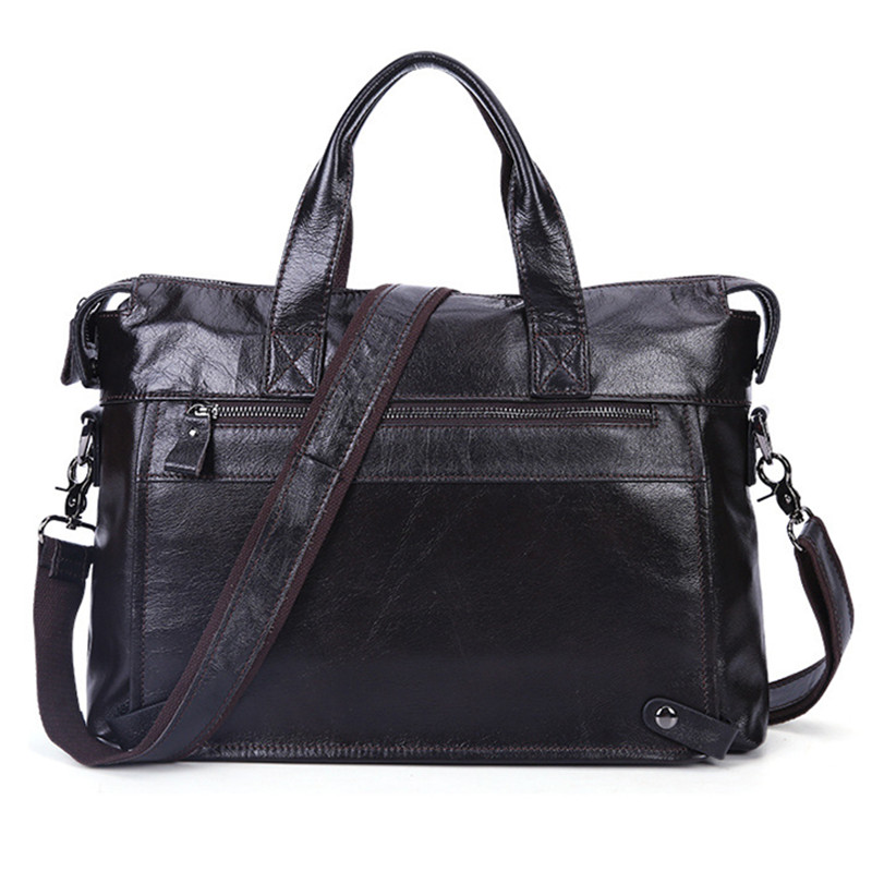Vintage 100 Genuine leather Men Business Briefcase Russian Fashion Style Men Leather Handbags 14 Laptop Bag