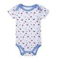 0M-12M babador primavera recém-nascidos bebê Algodão Corpo de manga curta Próximo infantil Baby Boy Girl Clothes