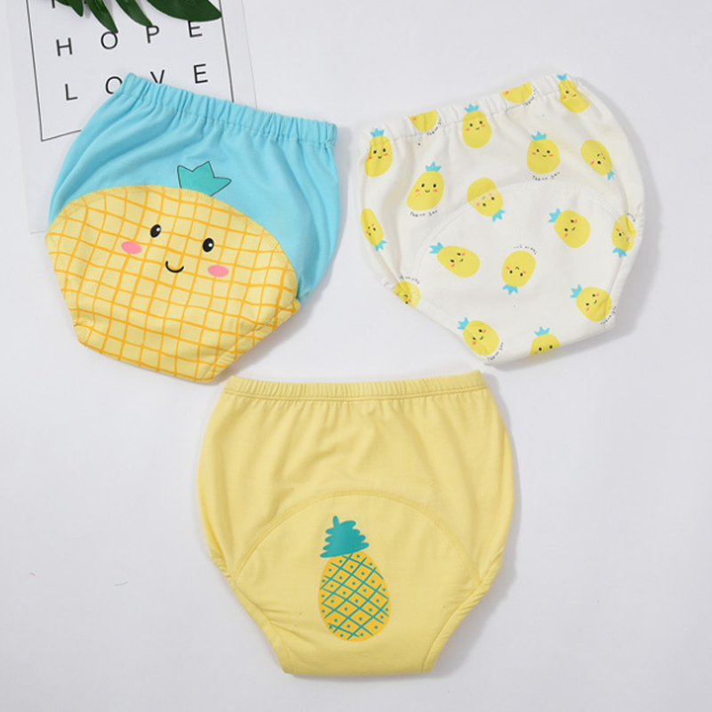3pcs Cotton Reusable Diapers Thick Baby Training Pants Diaper Set Baby Underwear Washable Baby Sleepwear Pants Children Shorts
