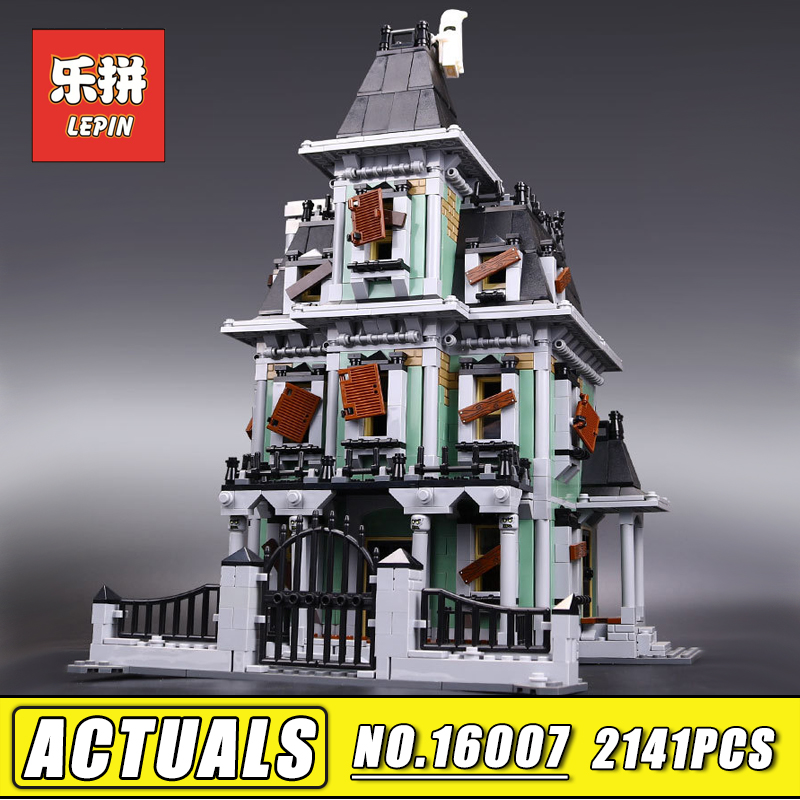 In Stock 2141pcs Lepin 16007 Monster fighter the haunted house set Building Kits Model Blocks Compatible 10228 Children Toy the monster next door