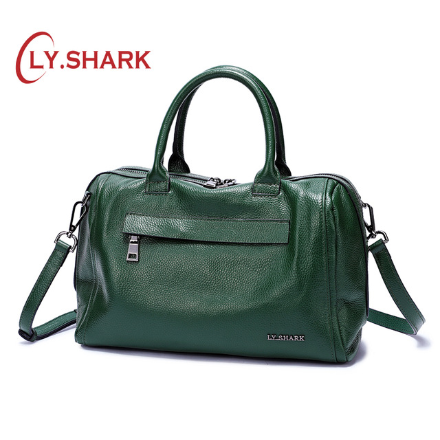 LY SHARK Women Genuine Leather Shoulder Bag Ladies Handbag Shoulder Handbags For Women Luxury Handbag Women