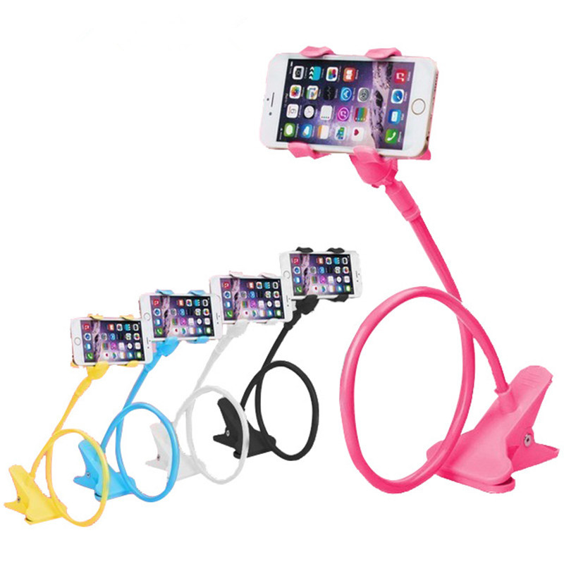 Universal flexible Arm Lazy Phone Holder Bed Gooseneck Cellphone Stand Holder Desk Stents Table Clip Bracket for Iphone Samsung Car phone