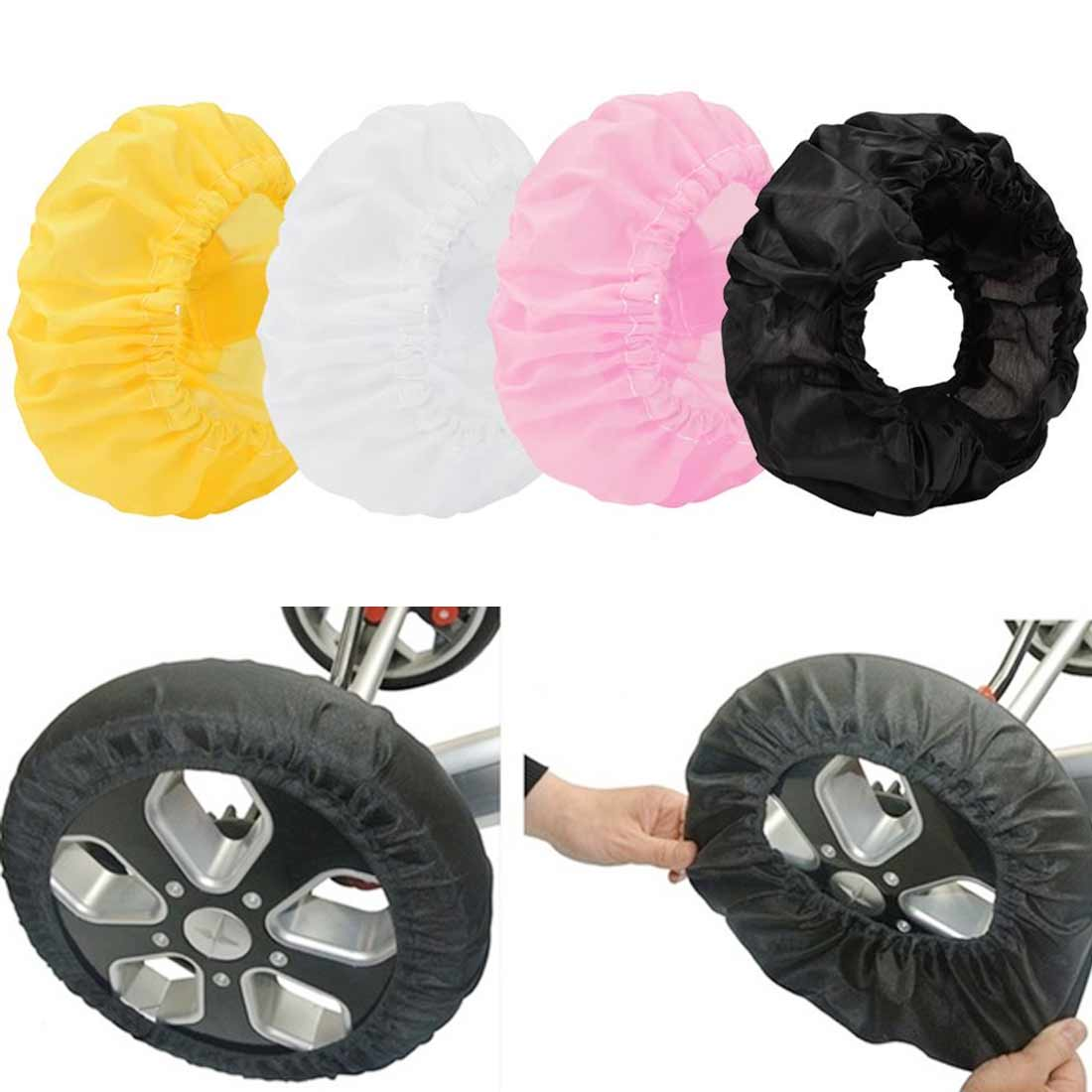 2pcs A Set  Baby Carriage Wheel Cover Pram Pushchair Mosquito Cover 12-25 CM  Width Wheelchair Stroller Dust-proof Cover