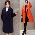 Winter autumn warm women long cashmere coat jackets Loose woolen warm female jackets Overcoat cashmere coat jackets Plus Size