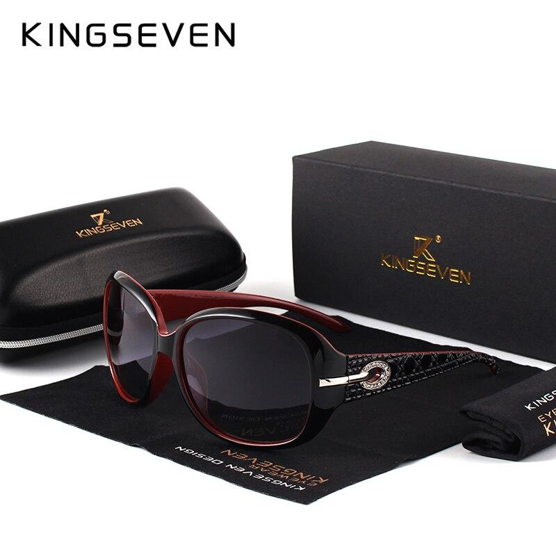 KINGSEVEN Brand Design Occhiali Da Sole Polarizzati Donne Eleganti Signore Occhiali Da Sole Estate Femminile Eyewear Oculos De Sol Shades 7214