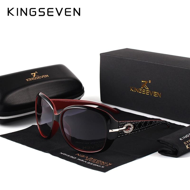 KINGSEVEN Brand Design font b Sunglasses b font Women font b Polarized b font Elegant Ladies